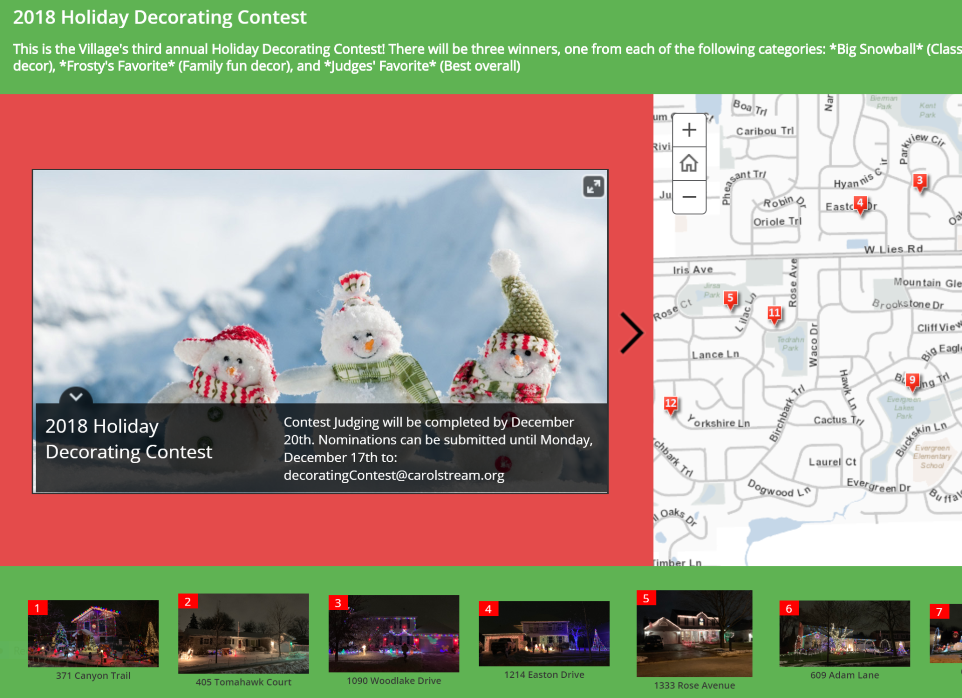 Holiday Story Map