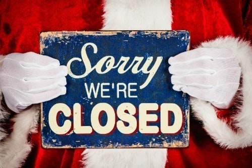 Village Hall Closed Christmas Day